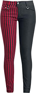 Banned Punk Trousers Girl-Hose schwarz//rot