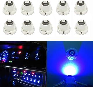 WLJH 10x Blue T3 Neo Wedge 3030 SMD Chipest 8mm Base Led Car Instrument Cluster Led Bulb Dashboard Gauge Bulb HVAC AC Heat...