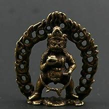 Statue Head Sculptures Bronze Black God of Wealth Tibetan Statue