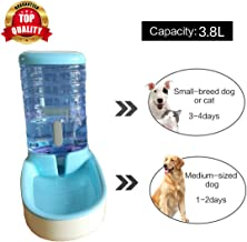 PetVogue Pet Water Feeder,Pet Automatic Waterer, Dog Water Dispenser, 3.8 Liters Cat Dog Food and Water Dispenser(Blue)