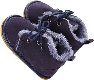 Baby Shoes Winter Plush Rubber Sole Laces Boots