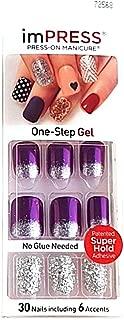 Kiss imPress Press-On Manicure Short Length Purple Nails # 72568 Harlem Shake