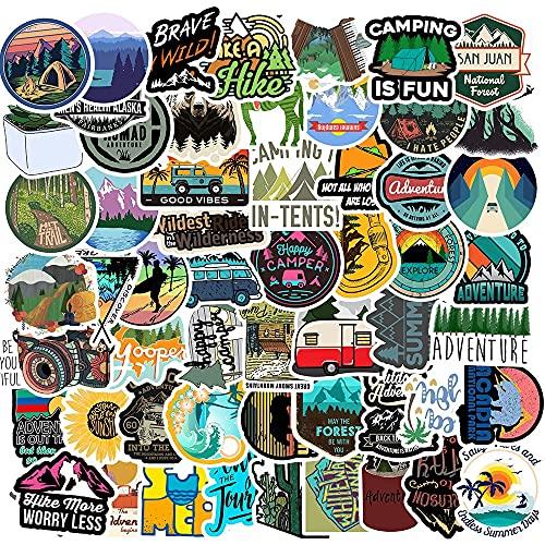 SHUYE Camping Travel Landscape Stickers Outdoor Adventure Climbing Travel Waterproof Sticker DIY Suitcase Laptop Bicycle100Pcs
