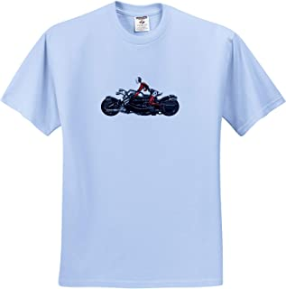 T-Shirts 3dRose Boehm Graphics Historic Horse Drawn Carriage with Two Horses and a Female Driver