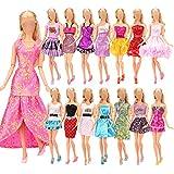 Miunana 12 Piezas Vestido de Fiesta Fashion Ropas Casual para 11.5 Pulgada 30CM Muñeca Estilo al Azar - CE Certificado