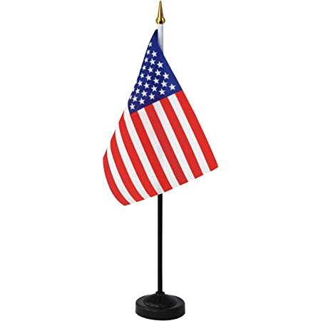 Flagmania/® Hampshire New Satin Flag 59mm Button Badge 9 x 6 with Chrome Base Table Desk Flag Set