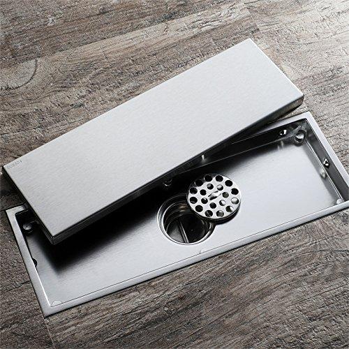 Anti-geur Invisible grote stroom Afvoerputje, Badkamer Douche Tile Insert Floor Afval Rasp Anti-verstopping (wasmachine afvoerputje)