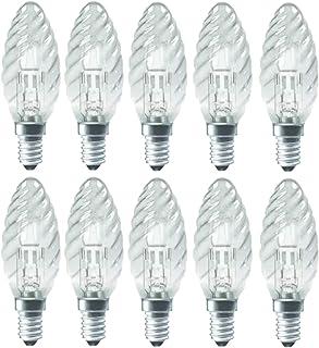 Luminizer Lot de 10 Ampoules halogènes à intensité Variable E14 Blanc Chaud 18-42 W, Verre, Transparent, E14 42.00W