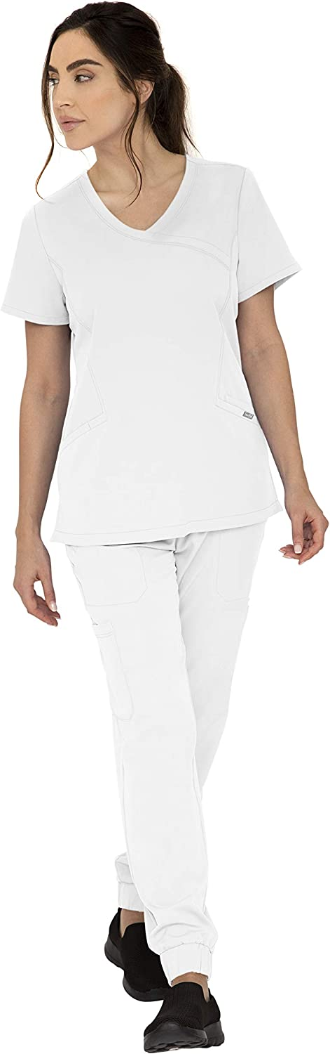 SOULFUL SCRUBS Set Charlotte 3-Pockets Mock Wrap Manufacturer regenerated product top 5 Pock Max 89% OFF with