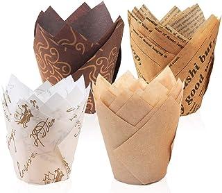 Meilo Caissettes Cupcake - Caissettes en Papier pour Muffin Cupcake, Caissettes de Pâtisserie, Caissettes Papier Muffins M...