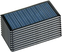 AOSHIKE 10Pcs 5V 60MA Epoxy Solar Panel Polycrystalline Solar Cell for Solar Battery Charger DIY 68x37MM/2.67x1.45inch 5V 0.06A 0.3W Solar Cells