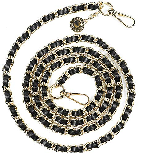 Jalouza Handykette Ersatzkette, Goldfarbene Kette zum Wechseln, kombinierbares Handy Necklace zum Umhängen, Gliederkette - Länge 120cm, Made in Berlin