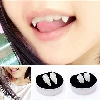 Mcree Halloween Dentures Vampire Teeth Bloodcurdling Vampire Werewolves Fangs Fake Dentures Teeth Costume Halloween