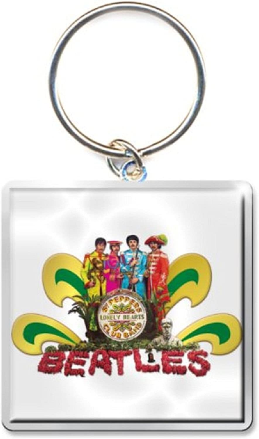 The Beatles Keyring Keychain Sgt Pepper Naked Official Size One Size