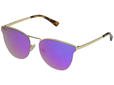 DIFF Eyewear Sadie (Gold/Purple) Fashion Sunglasses