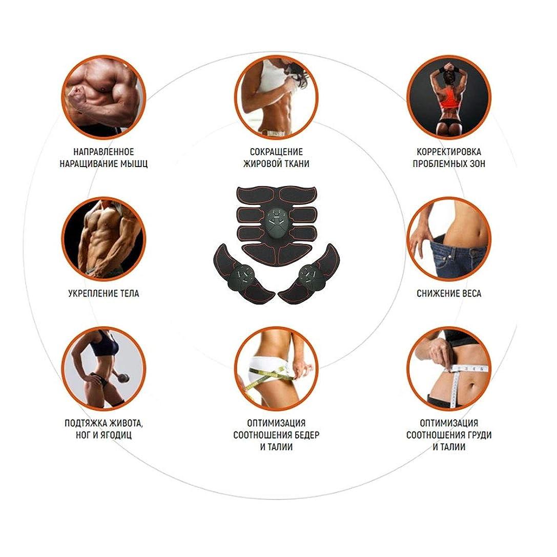 神経衰弱まもなく美容師Modenny フィットネスEMS筋刺激器筋肉痩身筋刺激器電気ワイヤレス腹部ベルトトレーニング装置腹筋刺激装置 (Color : 赤)