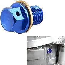 NICECNC 12mm P1.5 Blue Magnetic Oil Drain Plug Bolt for Honda CR85R/RII 03-07 CRF50F/70F XR250 Motard CBR250R/300R/650F 600/900RR VFR750F/800A Ducati 749R Hyperstrada Monster 696/796 Multistrada