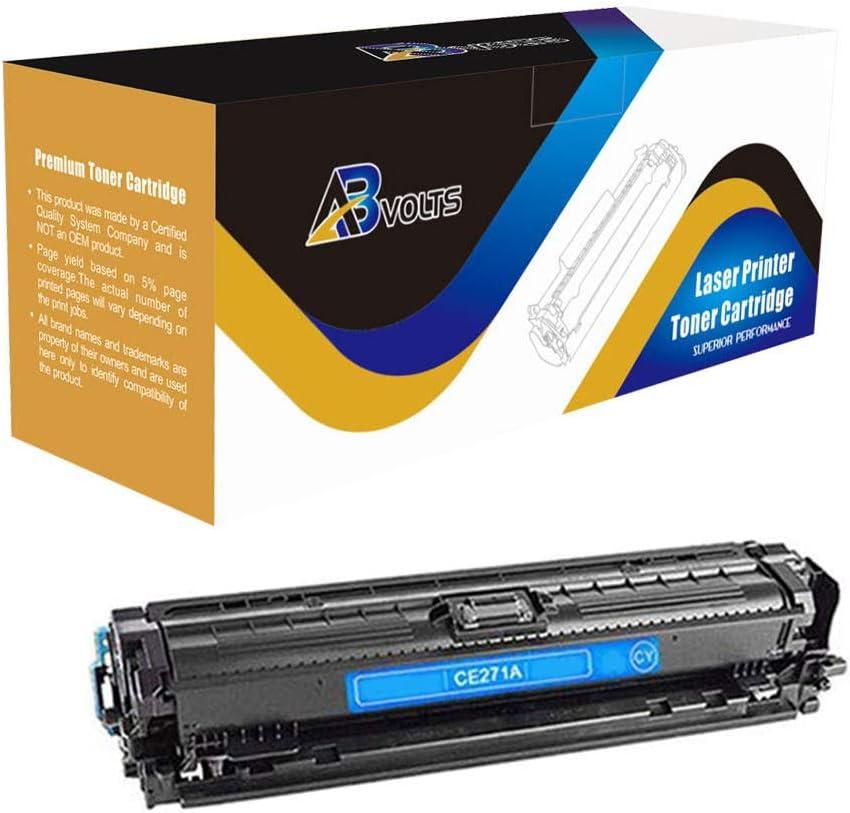 AB Volts Compatible Toner Cartridge Replacement for HP CE271A for Color Laserjet Enterprise CP5520 (Cyan,1-Pack)