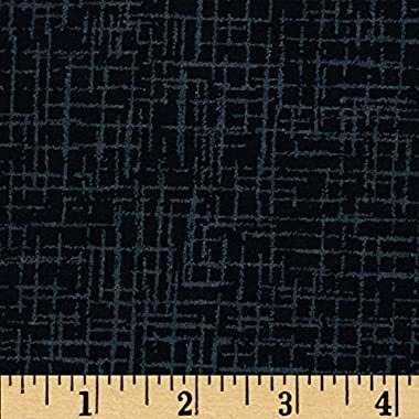 Westrade Textiles Westrade 110 in. Wide Quilt Back Betula Flannel, Yard, Black