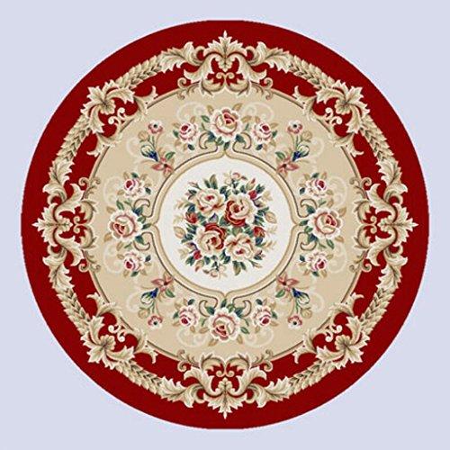 Rollsnownow Motif Rond Moquette Rond 120 * 120 cm Plante Motif Floral Salon Table Basse Table d'étude Table Ronde Ronde Ciseaux Tapis 1,5 cm d'épaisseur rétro Style