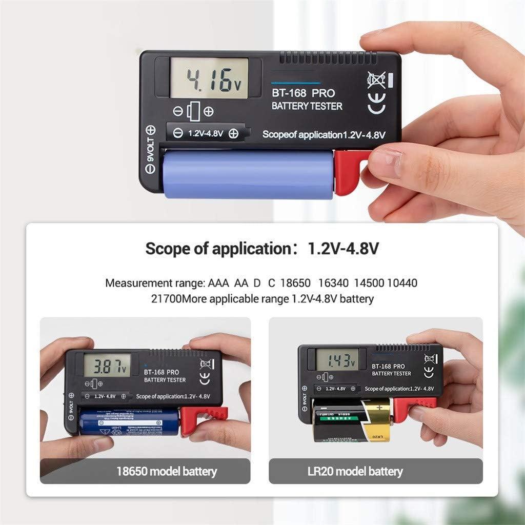 Neige Universal Battery Tester Checker for AA AAA C D 9V 1.5V Button Cell Batteries, Smart LCD Digital Battery Tester Electronic Battery Power Measure Checker