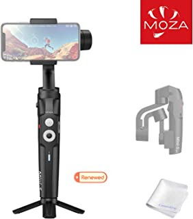 MOZA Mini-S Essential Foldable Gimbal stabilizer for Smartphone Timelapse Object Tracking 3-Axis Video Stabilizer for iPho...