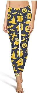 Leggings Female Pajama Pants Halloween Pumpkin Witch Hat Bat Black Yoga Pants
