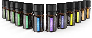 Anjou Essential Oils Set, Top 12 100 Pure Aromatherapy Essential Oil Kit, 12 x 5 ml (Lavender, Sweet Orange, Peppermint, Tea Tree, Eucalyptus, Lemongrass, Bergamot, Frankincense etc.)