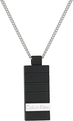 Calvin Klein - Plate Short Pendant Necklace