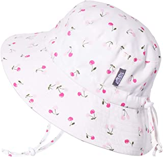 Kids Cotton Bucket Sun-Hat, 50+UPF Protection, Adjustable Strap, Baby Toddler Girls
