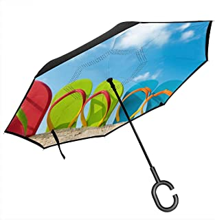 Flame Fire Automatic Tri-Fold Umbrella Parasol Sun Umbrella Sunshade