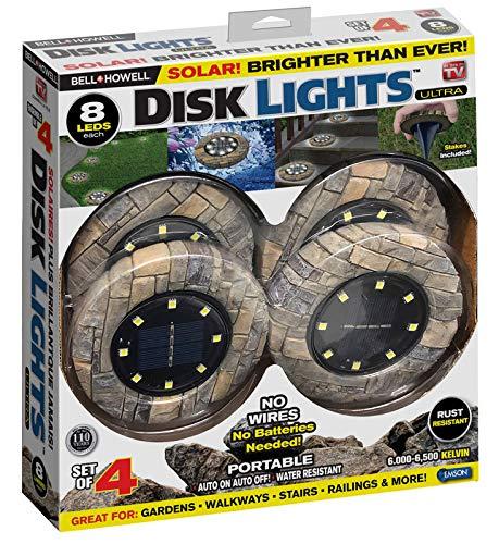 Bell & Howell 6000790 0 Point 89 watt Stone Brown Solar Powered LED Walkway Light Pack of 4