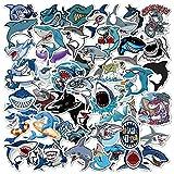Marine Shark Graffiti Aufkleber Cartoon Süße Aufkleber Für Koffer Laptop Skateboard Styling Telefon Gepäck Aufkleber Aufkleber 50St