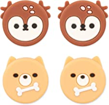 GeekShare Cute Animal Theme Thumb Grip Caps,Compatible with Nintendo Switch & Switch Lite Only,Soft Silicone Joystick Cove...