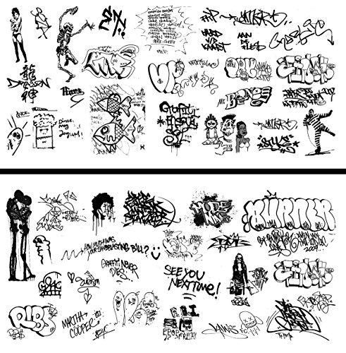 HO Scale Graffiti Waterslide Decals 2-Pack #19 - Weather Your Box Cars, Hoppers, & Gondolas!