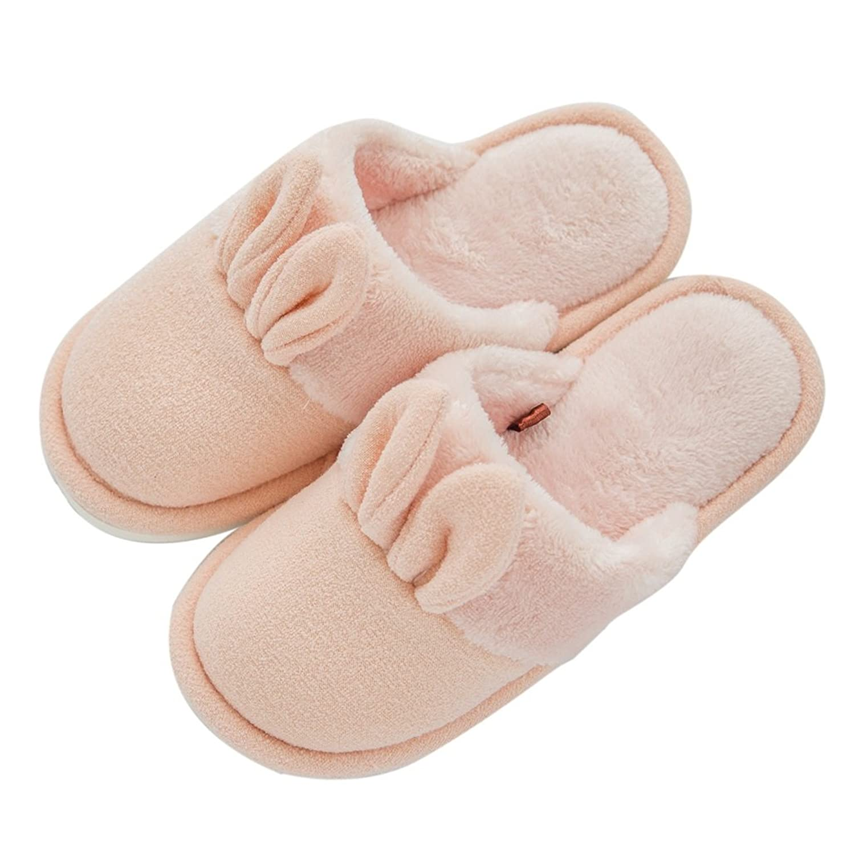 損なう製品奨学金コットンスリッパ女性の冬の家庭の暖かいノンスリップ吸収性の通気性の快適な靴 ( 色 : オレンジ , サイズ さいず : EUR:39-40 )
