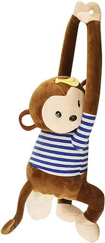 2021 Cute Cartoon Tissue Box Holder Monkey Tissue Box Plush Toy Napkin Holder Cartoon Animal Tissue Paper new arrival Holder Case Hanging for Car Home online Bathroom Kitchen Office sale
