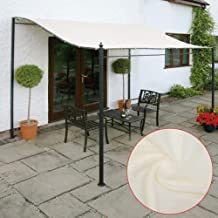 Replacement Canopy Top Cover for Grill Gazebo, 300D Canvas Waterproof Tent Roof Garden Winds Patio Pavilion Cover Sunshade,Single Layer, Beige, 2.6x2.5m