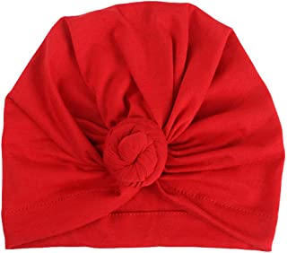 Tiean Fashion Women Warm Cotton India Ski Hat Boho Braided Turban Headdress Cap (Red)