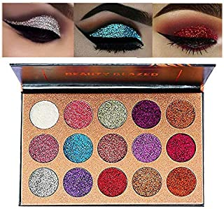 Beauty Glazed Ultra Pigmented Glitters No Glitter Glue Required Powder Glitter Eyeshadow Palette...