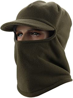Leories Winter Windproof Cap Fleece Balaclava Hooded Face Mask Neck Warmer Ski Hood Snowboard Mask Wind Protector Ski Hat