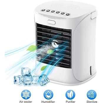 Enfriador de aire personal, WELTEAYO ventilador evaporativo con 3 ...