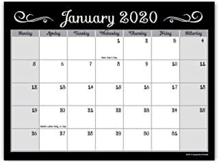 Guajolote Prints 2020-2021 Magnetic Monthly Calendar Pad for Refrigerator – 2..