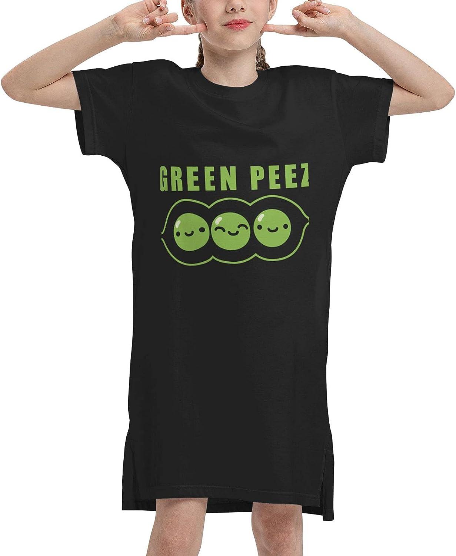 WAMEI Happy Peez Summer Girls Dress Casual Cotton Sleeveless Skirt Dresses for Girls Kids 7-12 Years