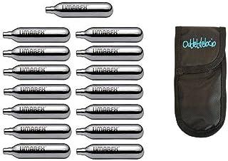 Outletdelocio. 15 bombonas co2 12gr. Umarex/Gamo/ASG para Pistolas y carabinas + Exclusiva Funda portabombonas