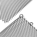 Shayier Fireplace Mesh Screen Curtain, Two 24' Wide Panels (24 Inches)
