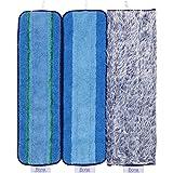 Bona Multi-Surface Floor Microfiber Pad Pack, 3 Count 18.31' x 5.12', Blue
