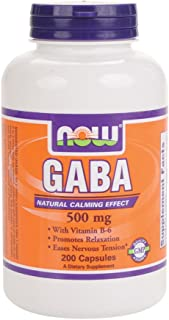 Now Foods GABA 500 mg - 200 Capsules 12 Pack