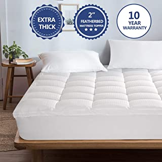 Starcast Mattress Topper Extra Thick (King) -Cotton Pillow Top Cooling Fitted Plush Topper Cover (Deep Pocket 8-21Inch)-400TC Down Alternative Quilted Mattress Pads & Abakan