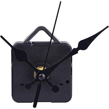 Mecanismo Maquinaria de DIY Reloj, Agujas de Horario Minutero Segundero, Color Negro